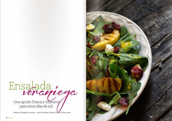 Receta ensalada veraniega // Summer salad recipe // Little*Haus Magazine