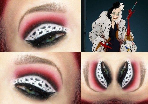 Make up occhi ispirato a Crudelia Demon