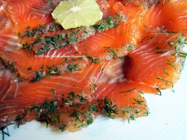 La Belle Auberge: Salmone marinato alla maniera di Montersino