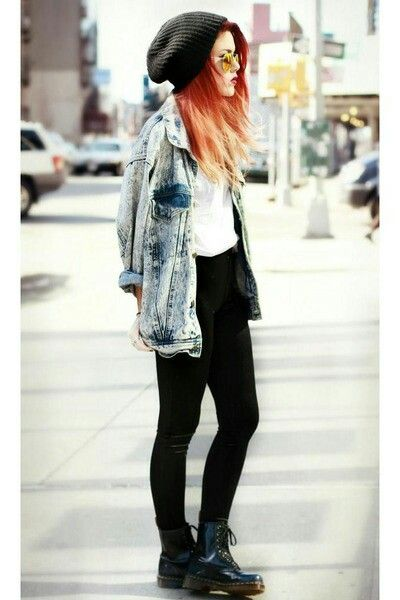 Nothing beats a beanie and a pair of skinny jeans.