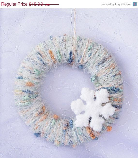 30 CHRISTMAS SALE OFF Winter Wreath  Snowflake by TheSecretGardenn, $10.50