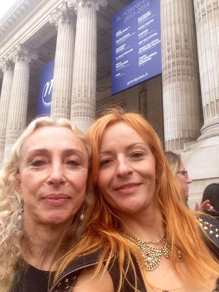 With Franca Sozzani