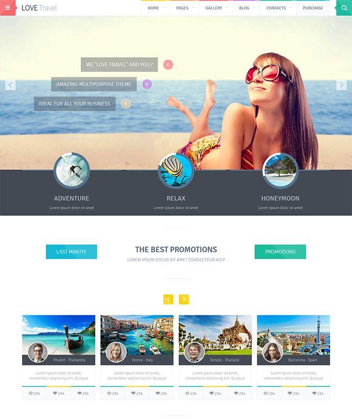 22 Beautiful Travel Website Templates | Bashooka | Cool Graphic & Web Design Blog