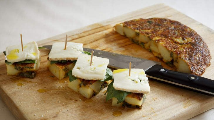 Picnic favourite: Potato and taleggio frittata. You can use the vegetable and cheese of your choice for this quick and easy breakfast, lunch or dinner idea.