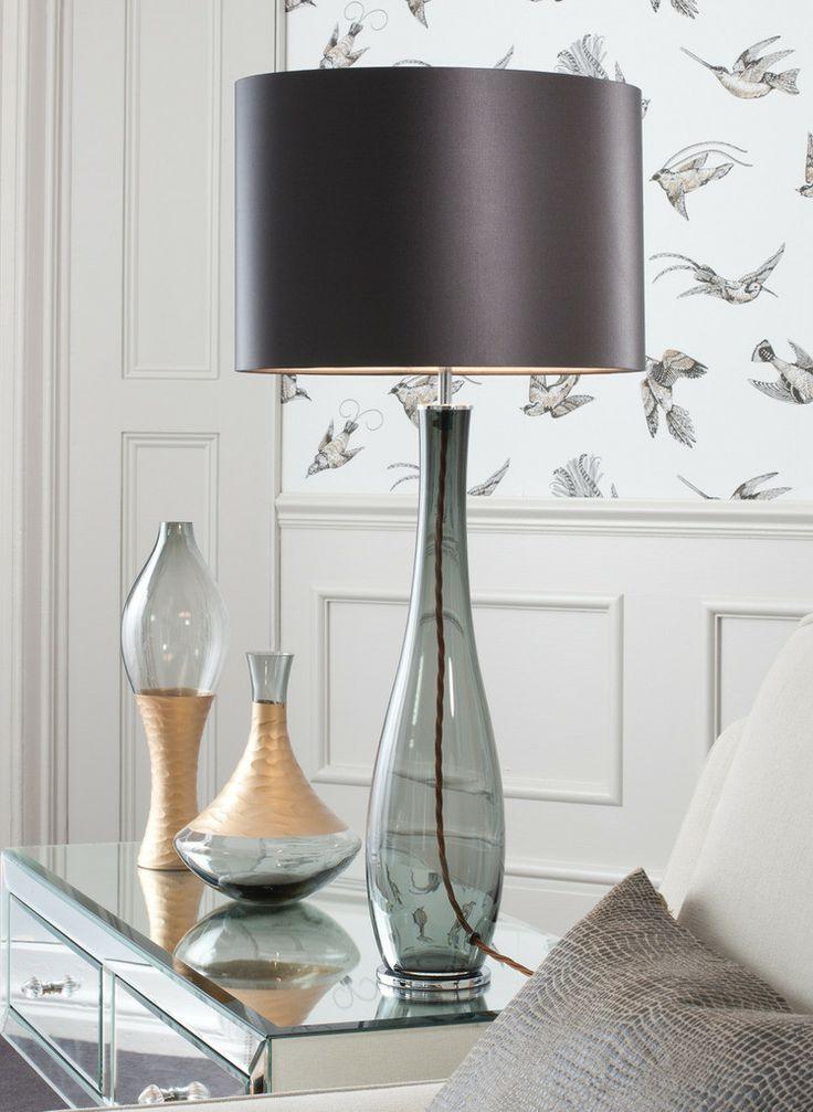 Bliss Smoke Table Lamp