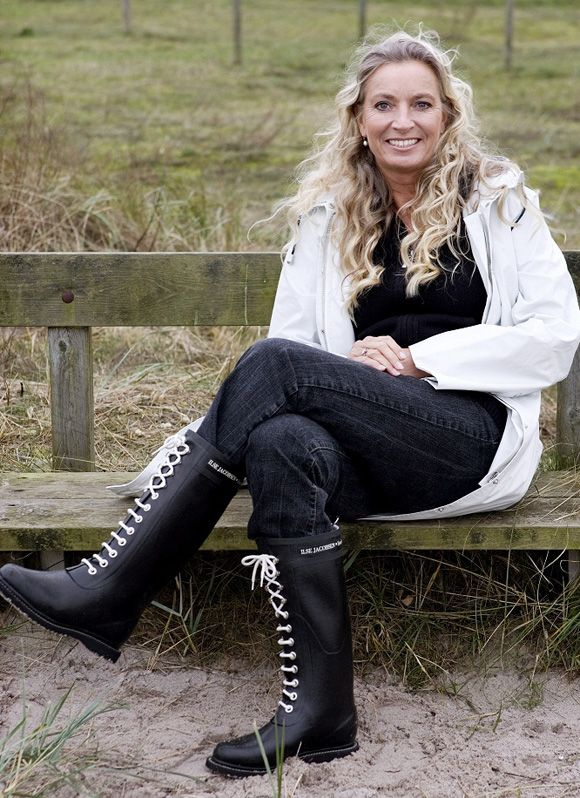 Ilse Jacobsen Lace up rain boots