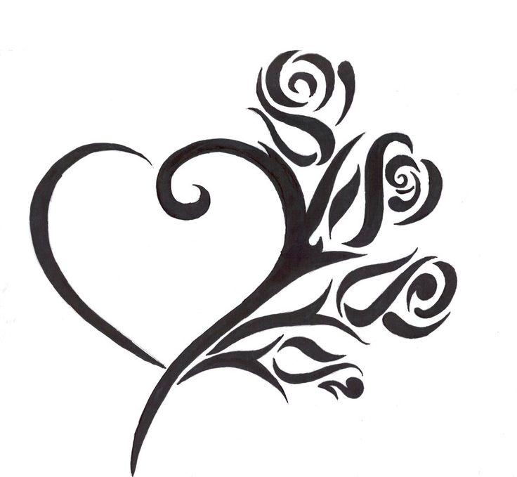 best 25 tribal heart tattoos ideas on pinterest tribal foot tattoos simple tribal tattoos. Black Bedroom Furniture Sets. Home Design Ideas