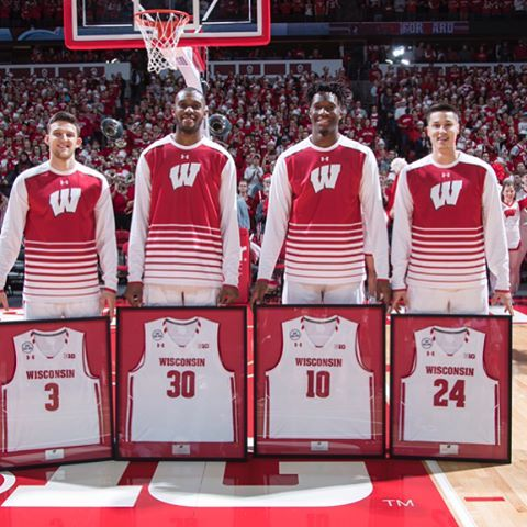 "6,946 Likes, 41 Comments - Wisconsin Basketball (@badgermbb) on Instagram: ""Thank you, seniors! #SeniorDay #OnWisconsin #Badgers"""