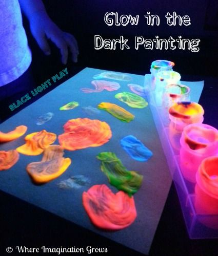 217 best Glow  Black Light Play Ideas images on Pinterest