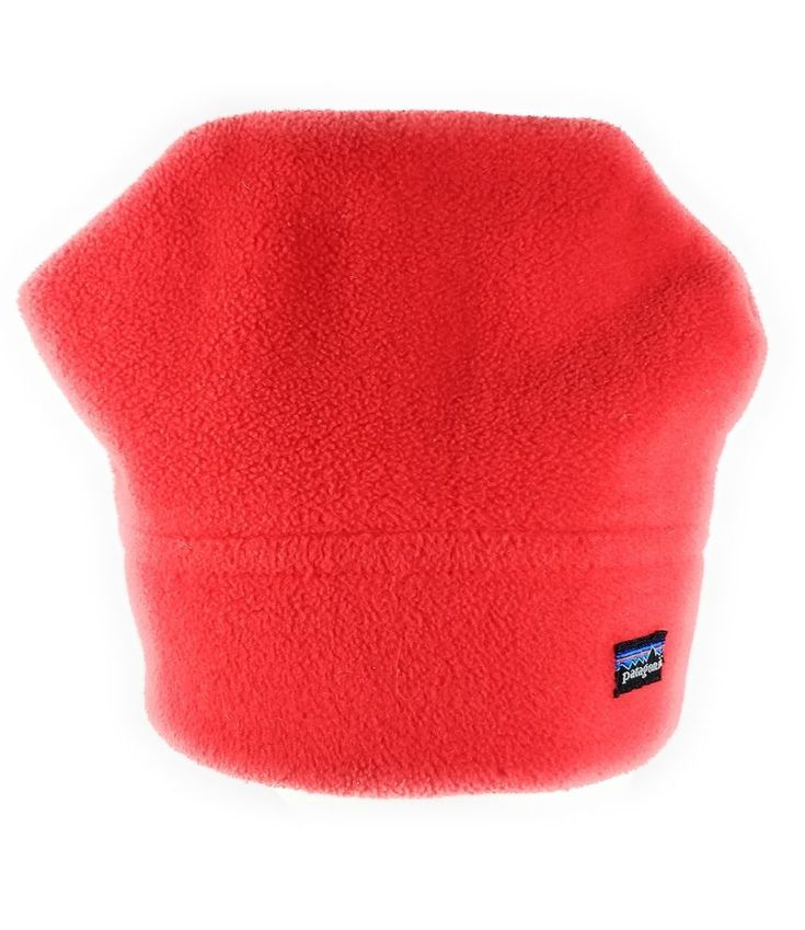 PATAGONIA Beanie Hat Red Fleece Large SKI Wear #Patagonia