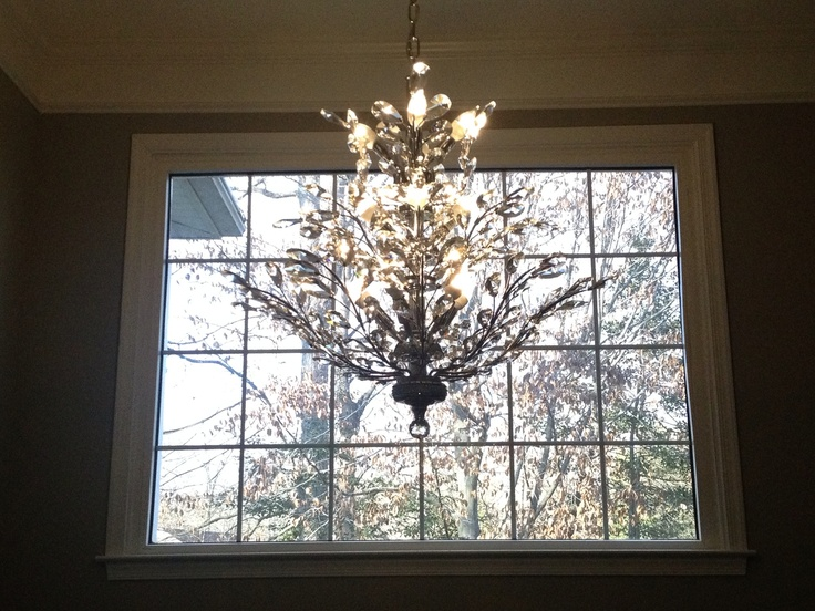 Foyer Chandelier With Shades : Foyer chandelier branch of light design joshua marshall