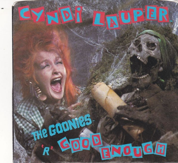 """Cyndi Lauper / Goonies R Good Enough / What A Thrill / 7"""" Vinyl 45 Record & Picture Sleeve #CyndiLauper #Goonies #Music"""
