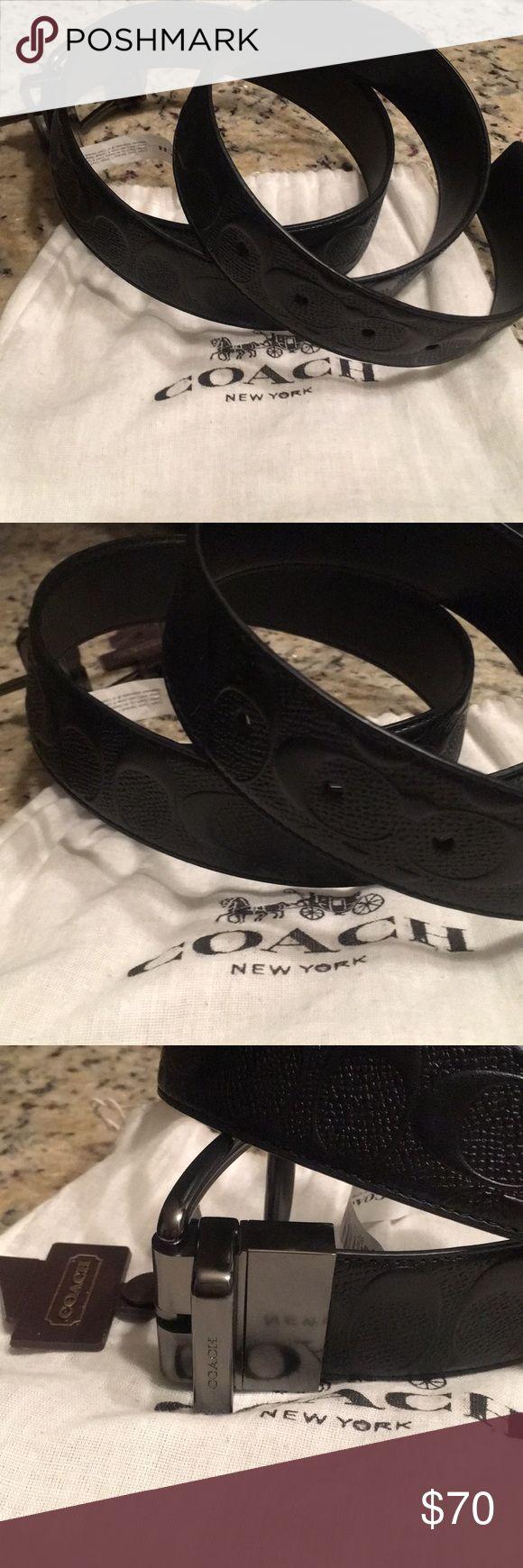 New black men's Coach belt OS New black men's Coach belt OS Coach Accessories Belts
