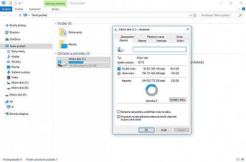 Vyčištění disku ve Windows 10