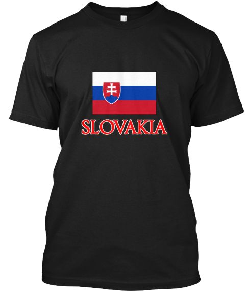 Slovakia Flag Design Black T-Shirt Front - This is the perfect gift for someone who loves Slovakia. Thank you for visiting my page (Related terms: Flag Slovakia,I Heart Slovakia,Slovakia,Slovakian,Slovakia Travel,I Love My Country,Slovakia Flag, S #Slovakia, #Slovakiashirts...)