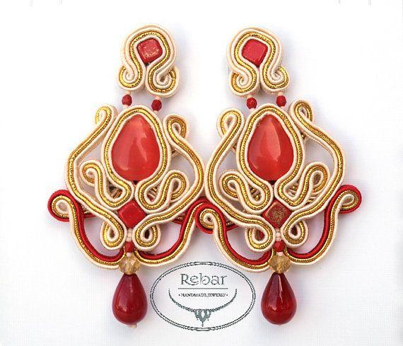 """Soutache earrings """"Teodora"""""""