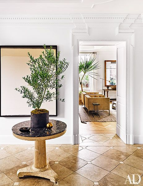 Beautiful rustic passage from one room to another - in Nate Burkus' home via Architectural Digest