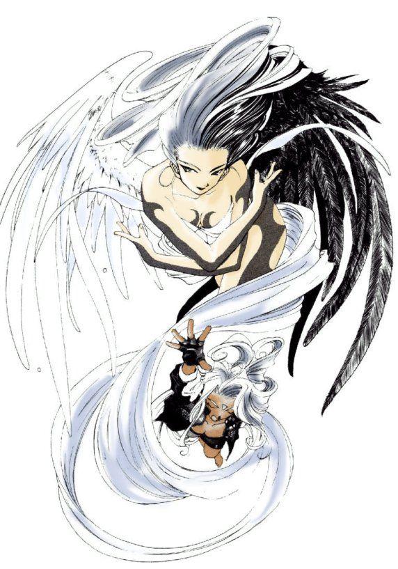 Coloured Angel and Goddess by ~lish-chan