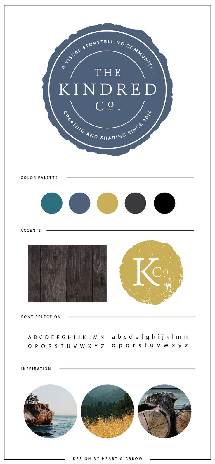 Brand Board for Kindred Co.