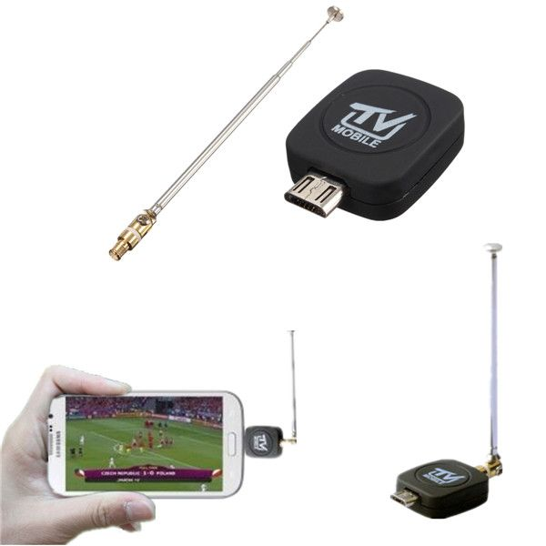 Mini Micro USB DVB-T Digital Mobile TV Tuner Receiver For Android Phone Tablet PC     With this mini Micro USB HDTV DVB-T Receiver,you can watch DVB-T TV on Android Phone/Pad with USB OTG.It's so convenient that you can watch TV channels everywhere and you won't miss live shows and matches!  You need to know whether DVB-T is in your local. No DVB-T, this product can not be used. This product just support DVB-T. DVB-T2 and ISDB-T can not support!  Features:   	Rewind ...