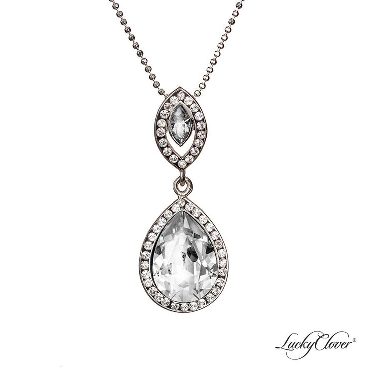 LuckyClover Jewelry - Viziare Crystal Double Drop Pendant MADE WITH SWAROVSKI ELEMENTS, $91.00   Matching necklace for the earrings?