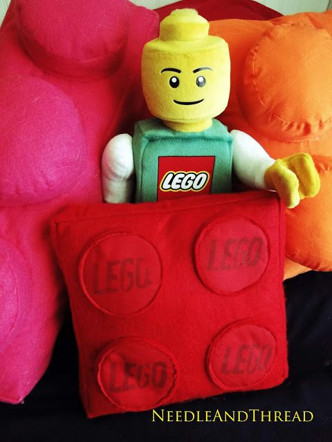 How to sew a Lego pillow.
