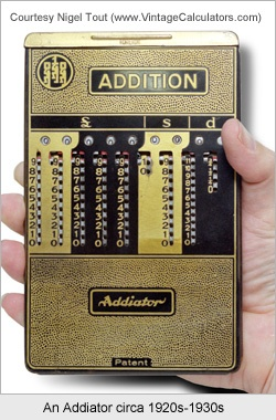 Imagine if you can have your hands on this 1920s Addiator calculator! Don't fret, we have cool calculators to. See this one at http://www.budgetpromotion.com.au/promotional-merchandise/promotional-calculators/Flip-Cover-Calculator.html #CustomMade #calculators