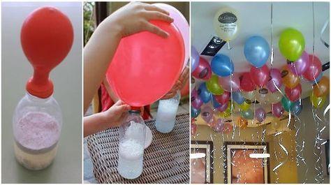 Voici L'astuce Pour Gonfler Les Ballons Sans Utiliser D'hélium