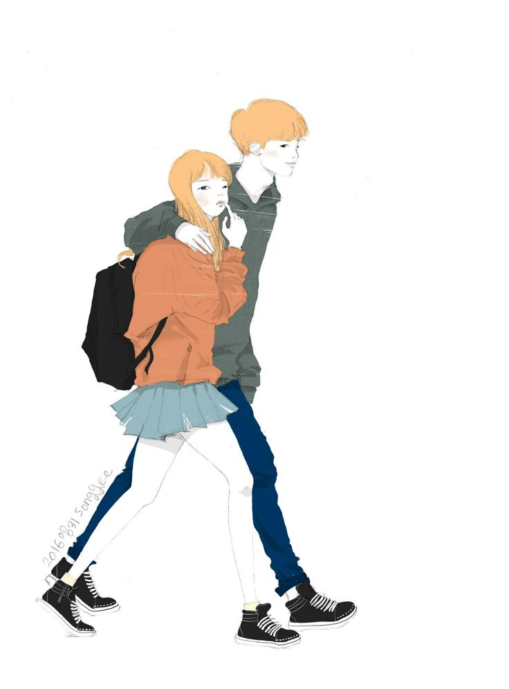 Lovely couple illustration