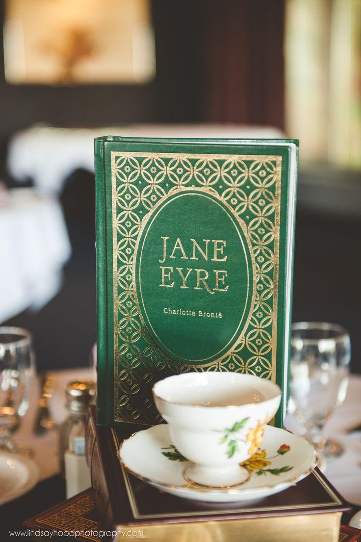 Literary wedding centrepiece