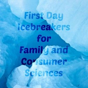Links to first-day signature grid icebreaker activities for Family and Consumer Sciences and Home Economics classes