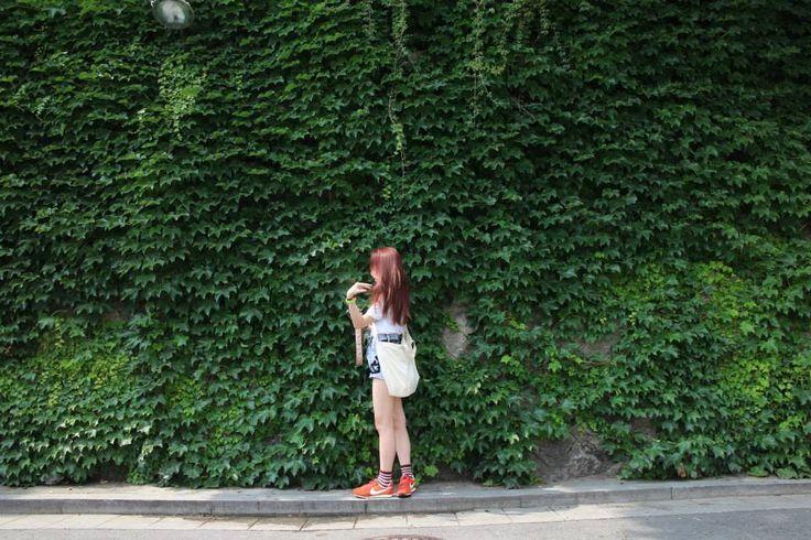 #street fashion #tote bag #nike #shorts #hong kong