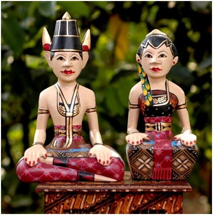 loro blonyo statue, the symbol of javanese groom and bride