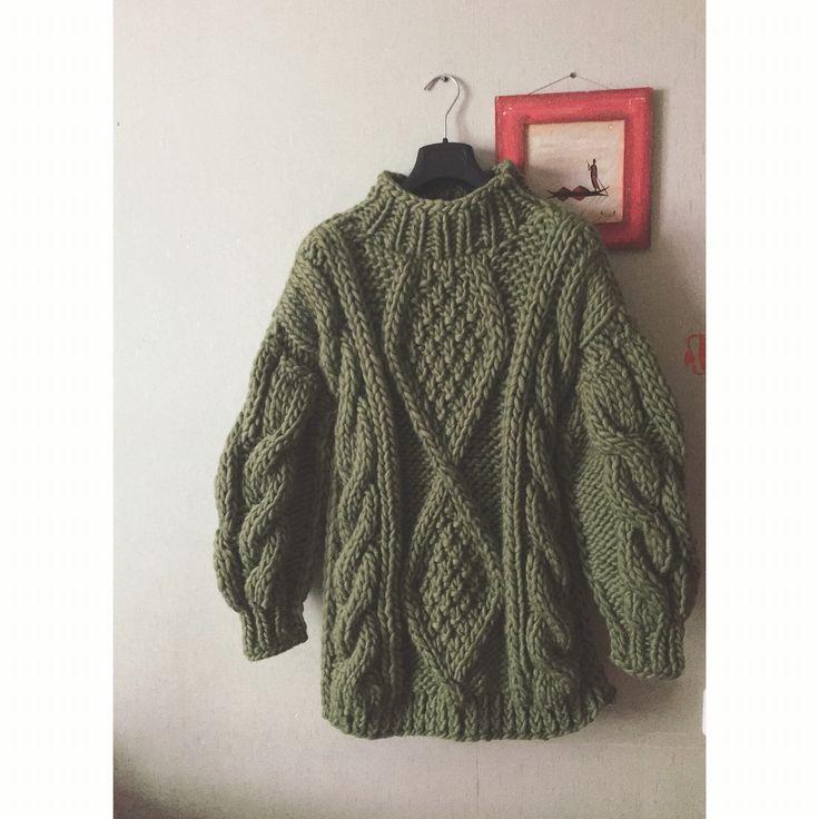 Oversize sweater, yarn woolandmania