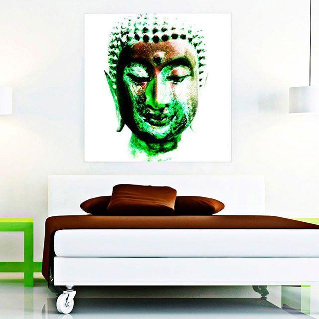 Green Buddha - Bedroom Glass 100x100 cm #buddha#green#walldecor#danishdesign#design#bedroom#bedroomdecor#bedroomdesign#sleeping#fasion#wall#art#popart#photography#asia#hoteldecor#hotel#wellness#wellnesshotel#color#chill#chillart#soul#relax#alternative#finnbyrum# - Architecture and Home Decor - Bedroom - Bathroom - Kitchen And Living Room Interior Design Decorating Ideas - #architecture #design #interiordesign #diy #homedesign #architect #architectural #homedecor #realestate #contemporaryart…