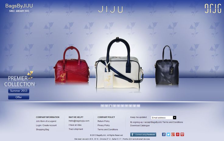 Check out our brand new project - Custom #PHP #Ecommerce site http://bagsbyjiju.com/ What do you think of it? Get your website designed and developed by us within an affordable cost margin. Call us now >> +91-99-3344-5500 or Email: sales@itsinindia.com #websitedesign #webdevelopment