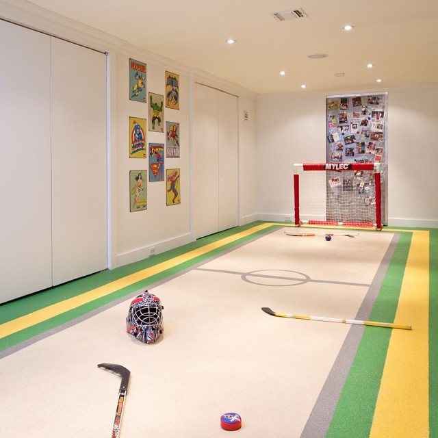 hockey! Need to do this to the basement floor