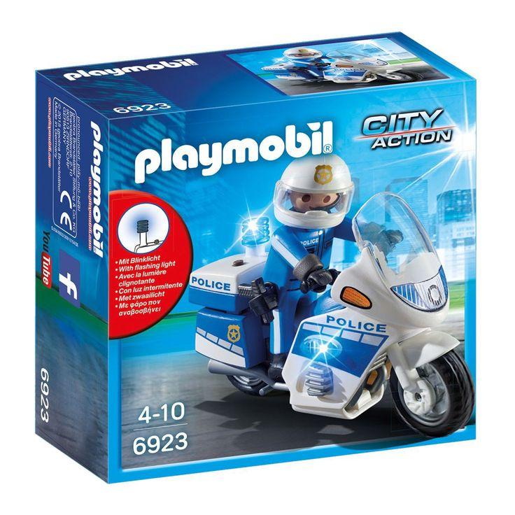 Moto de policier avec gyrophare Playmobil City Action 6923