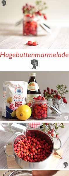 DIY: Hagebuttenmarmelade selber einkochen. Die kleinen roten Wunder sind super Vitamin-C-Spender und helfen euch gut durch die Erkältungszeit. #hagebutte #hagebuttenmarmelade #rezept #anleitung #diy #creadienstag
