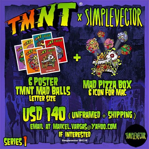 TMNT MAD BALLS EDITION x @Maikel Vargas 6 poster + 6 icon set = US$ 140 (unframed + shipping) email at maikel.vargas@yahoo.com if interested #tmnt  #madballs #turtlepower