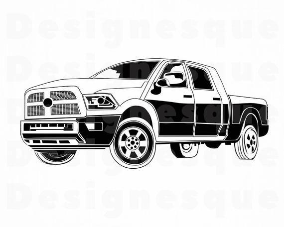 Pickup Truck 4 Svg Pickup Truck Clipart Pickup Truck Files Etsy In 2021 Pickup Trucks Ford Pickup Trucks Truck Art