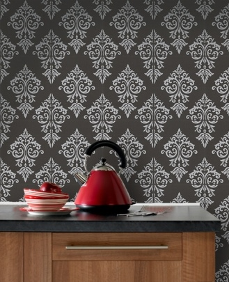 Pallade : Black and Silver Wallpaper
