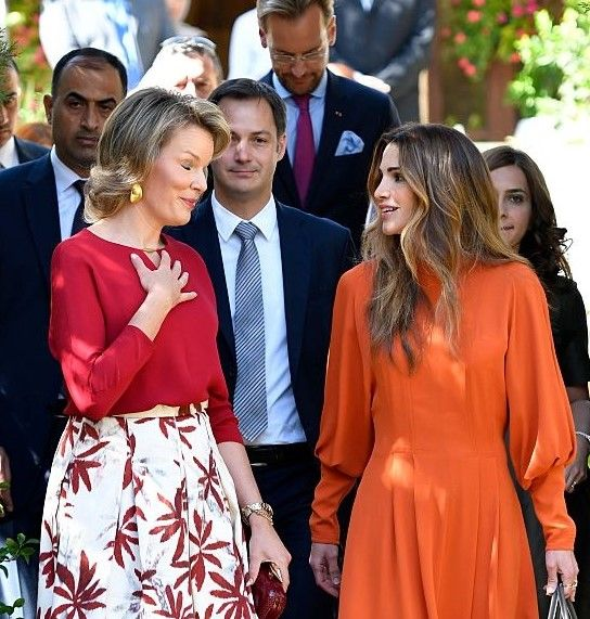 Royal Family Around the World: Humanitarian visit of Queen Mathilde to Jordan - Day 2 at the Jordan River Foundation showroom on October 25, 2016