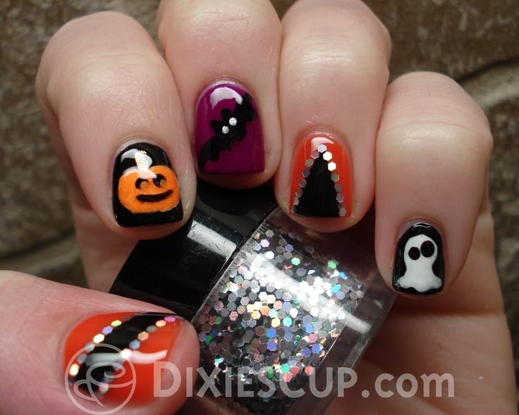 Dixie's Cup: Halloween Nail Art | Halloween nail art ...
