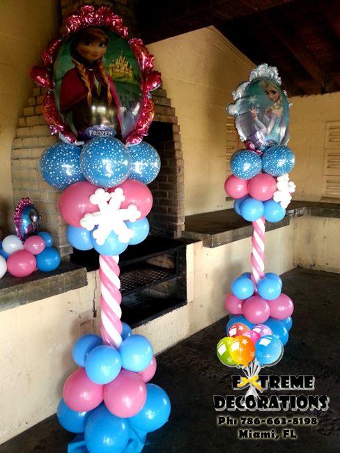 Frozen balloon columns extreme decorations ph 786 663 for Frozen balloon ideas