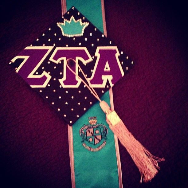 Zeta graduation hat.. Love the coordinating tassel! Blue hat, light blue tassel for KKG