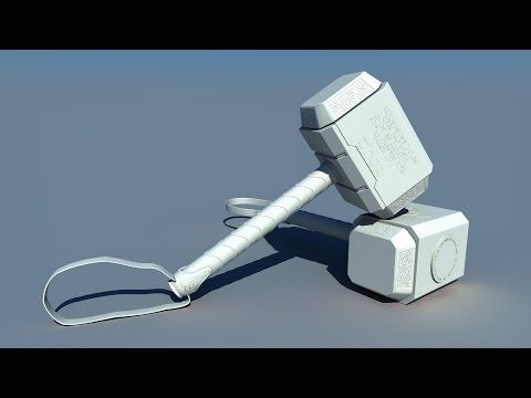 Tutorial modeling Thor hammer -Modelado martillo (maya 3D) - YouTube