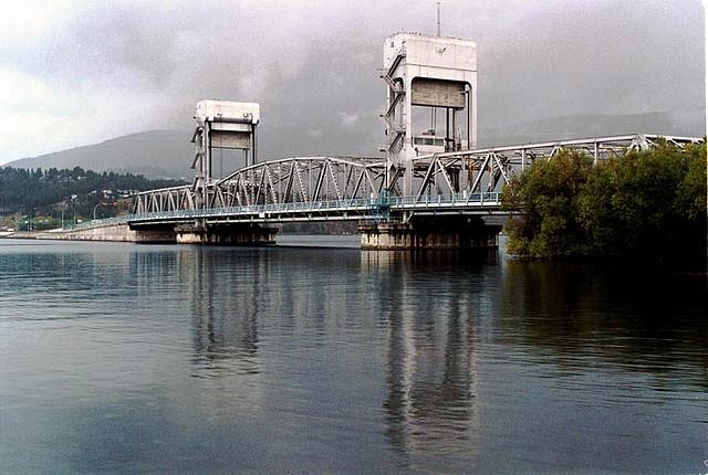 Kelowna Floating Bridge built in 1958