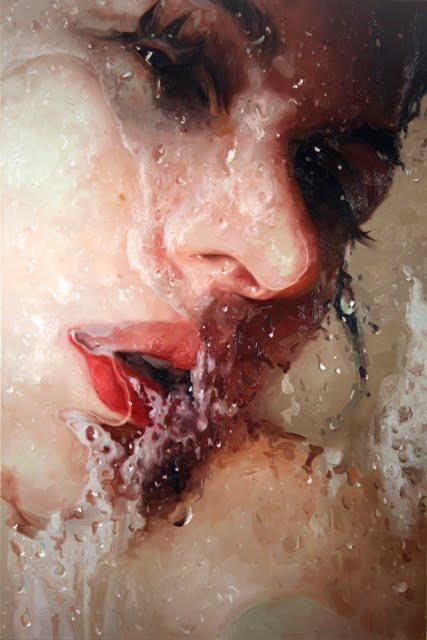 Hyper-realism painting by Alyssa Monks