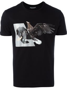 winged horse print T-shirt